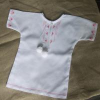 """Хрестильна сорочка """"Рожеві світанки"""" (kolos_024)"""