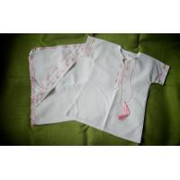 """Хрестильний набір """"Біло-рожевий садок"""" (kolos_056)"""